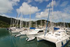 Yachts. Yacht docked at Nanny Cay in Tortola, British Virgin Islands Royalty Free Stock Photo
