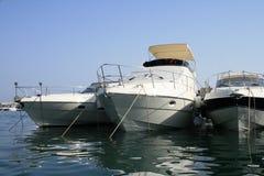 Yachts. Small sailboats in a Kotor harbor (Montenegro, Adriatic sea Stock Photos