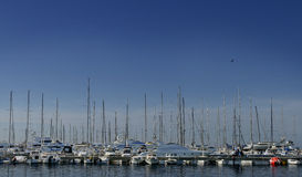 Yachts. In the bay of the Adriatic Sea in Bar Royalty Free Stock Images