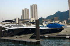 Yachts. In Aberdeen, Hong Kong Royalty Free Stock Photos