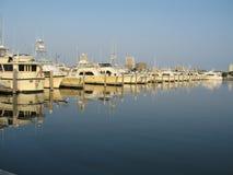 Yachts. At atlantic city, new jersey marina stock photography