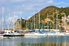 Yachts in Alanya, Turkey Stock Photo