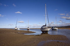 Yachts at anchor Stock Photography