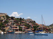 Yachts anchored in Kekova Royalty Free Stock Images