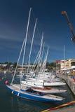 Yachts ancrés dans Hanko Image libre de droits