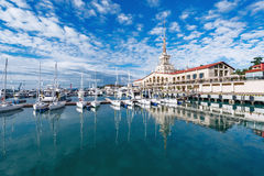 Free Yachts And Boats In Sochi. Royalty Free Stock Photo - 95700585