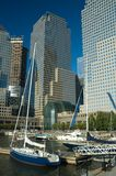 Yachts And Wtc Stock Photography