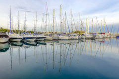 Yachts at Antibes Harbour Stock Photos