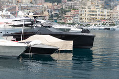 Yachts and apartments of Monaco Stock Photos