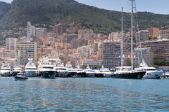 Yachts and apartments of Monaco Stock Images