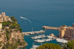 Yachts and apartments in Monte Carlo Royalty Free Stock Photo