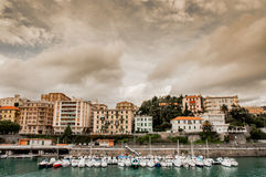 Yachts and Appartments in Italy Royalty Free Stock Photo