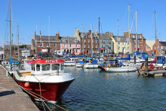 Yachts Arbroath harbour Arbroath Angus Scotland Stock Photos