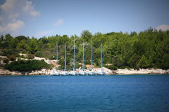 Yachts ashore Royalty Free Stock Image
