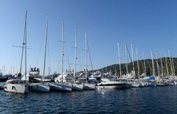 Free Yachts At The Marina Of The Yacht Club In The Turkish City Of Marmaris Royalty Free Stock Photo - 172124185