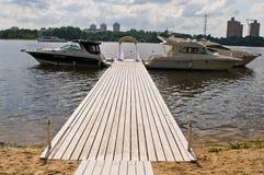 Yachts au bureau Photos stock