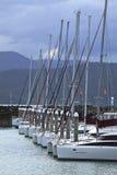 Yachts au crépuscule image libre de droits