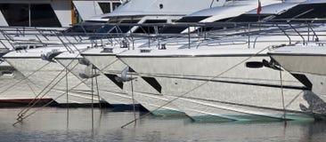 Yachts au point d'attache Photo libre de droits