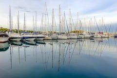 Yachts au port d'Antibes Photos stock