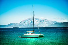 Yachts on azure sea water Royalty Free Stock Photo