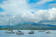 Yachts in Bantry Bay stock images