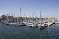 Yachts in Barcelona Royalty Free Stock Photo