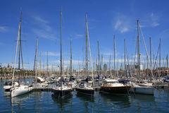 Yachts in Barcelona Stock Photos
