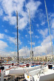 Yachts in Barcelona, Spain Royalty Free Stock Images