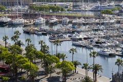 Yachts in Barcelona, Spain Stock Image
