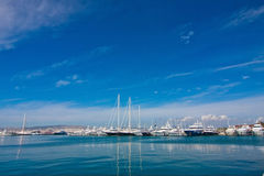 Yachts in the bay Royalty Free Stock Photography