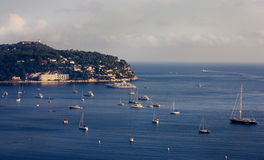 Yachts in the bay of Monaco Royalty Free Stock Images