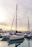 Yachts in the Bay at the seaport in Sochi city center royalty free stock photography