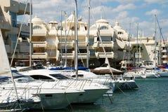 Yachts in Benalmadena marina. royalty free stock photo