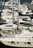 Yachts at berth Stock Photos
