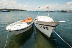 Yachts berthed in Nessebar, Bulgaria Royalty Free Stock Photos