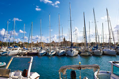yachts blancs Images libres de droits