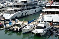 Yachts and boat harbor, Hongkong gold coast Royalty Free Stock Photo