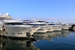 Yachts and boats. Luxury Yachts or boats in a Marina Royalty Free Stock Photos