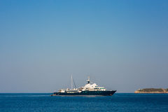 Yachts and boats in the Adriatic Sea. In Montenegro Royalty Free Stock Images