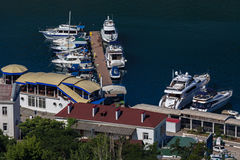 Yachts and boats in the Balaclava Bay. Stock Image