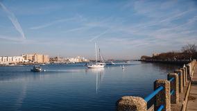 Yachts and boats in bay Royalty Free Stock Photography