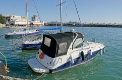 Yachts and boats in the Bay of Yalta Stock Photography