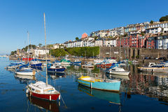 Yachts and boats in Brixham Devon England during the heatwave of Summer 2013 Royalty Free Stock Images