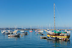 Yachts and boats in Brixham marina Devon England during the heatwave of Summer 2013 Stock Photos