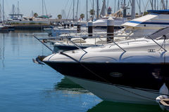 Yachts and boats in coast marine Royalty Free Stock Photo