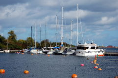 Yachts and boats in Copenhagen Royalty Free Stock Photography