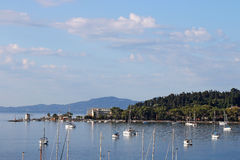 Yachts and boats Corfu island Royalty Free Stock Photography