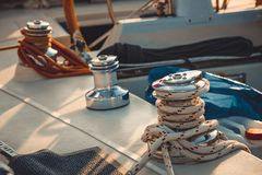 Yachts and boats Stock Images