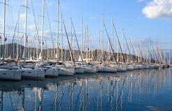 Yachts and boats in Fethiye Ece Marina, Mugla, Turkey Stock Images