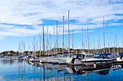 Yachts and boats in the harbor. Oslo, Norway Stock Photo